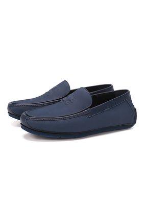Мужские кожаные мокасины ZILLI темно-синего цвета, арт. MDT-M043/001 | Фото 1