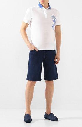 Мужские кожаные мокасины ZILLI темно-синего цвета, арт. MDT-M043/001 | Фото 2