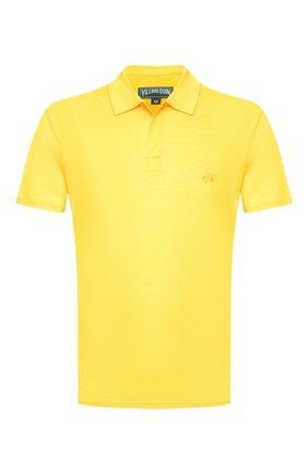 Мужское льняное поло VILEBREQUIN желтого цвета, арт. PYRE9O00 | Фото 1