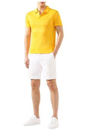 Мужское льняное поло VILEBREQUIN желтого цвета, арт. PYRE9O00 | Фото 2