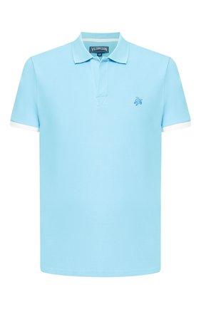 Мужское хлопковое поло VILEBREQUIN голубого цвета, арт. PLTU0N00 | Фото 1