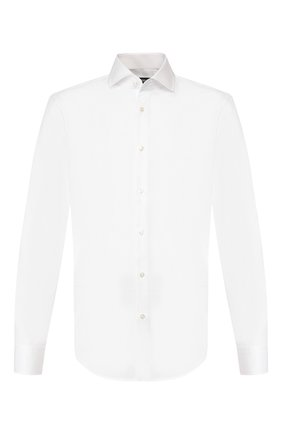 Мужская хлопковая сорочка BOSS белого цвета, арт. 50428371 | Фото 1