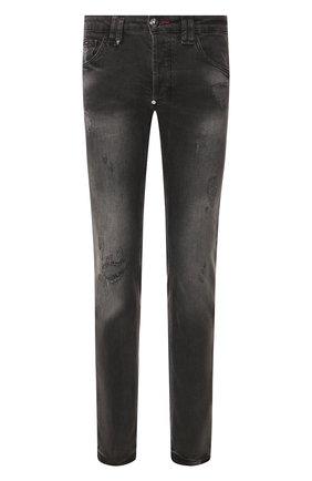 Мужские джинсы PHILIPP PLEIN серого цвета, арт. S20C MDT2018 PDE004N | Фото 1
