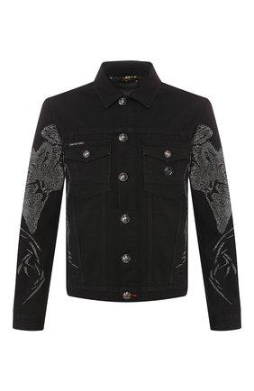 Мужская джинсовая куртка PHILIPP PLEIN черного цвета, арт. S20C MDB0254 PDE004N | Фото 1