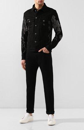 Мужская джинсовая куртка PHILIPP PLEIN черного цвета, арт. S20C MDB0254 PDE004N | Фото 2