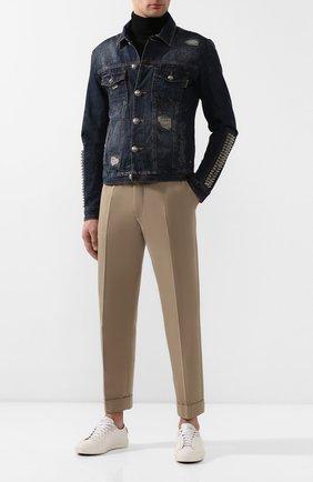 Мужская джинсовая куртка PHILIPP PLEIN синего цвета, арт. S20C MDB0255 PDE004N | Фото 2