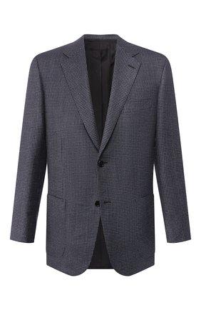 Мужской шерстяной пиджак BRIONI синего цвета, арт. RGH00L/08A3T/PARLAMENT0 | Фото 1