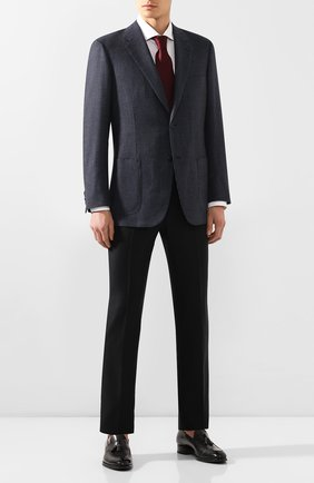 Мужской шерстяной пиджак BRIONI синего цвета, арт. RGH00L/08A3T/PARLAMENT0 | Фото 2