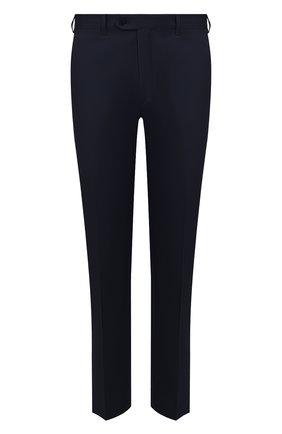 Мужской брюки из смеси хлопка и шелка BRIONI темно-синего цвета, арт. RPL60Q/P9062/TIGULLI0 | Фото 1