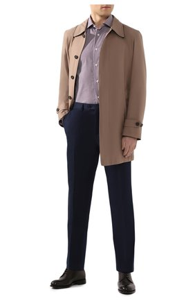 Мужской брюки из смеси хлопка и шелка BRIONI темно-синего цвета, арт. RPL60Q/P9062/TIGULLI0 | Фото 2