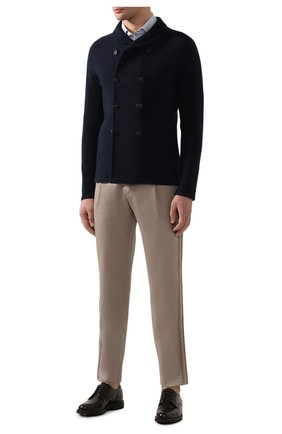 Мужские брюки из смеси льна и хлопка GIORGIO ARMANI бежевого цвета, арт. 0SGPP09Z/T01FI   Фото 2