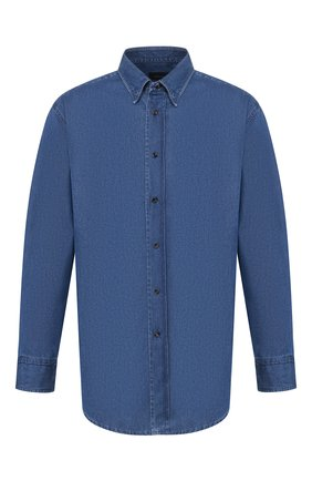 Мужская джинсовая рубашка BRIONI синего цвета, арт. SCAX0L/P9D16 | Фото 1