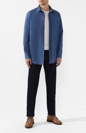 Мужская джинсовая рубашка BRIONI синего цвета, арт. SCAX0L/P9D16 | Фото 2
