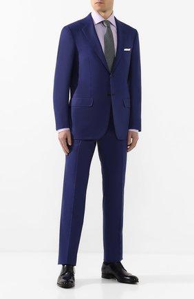 Мужской шерстяной костюм KITON синего цвета, арт. UA81K01X44   Фото 1