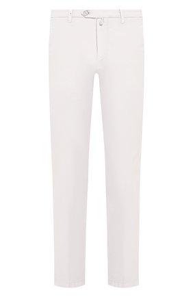 Мужской брюки из смеси хлопка и шелка KITON светло-серого цвета, арт. UFPP79J07S49 | Фото 1