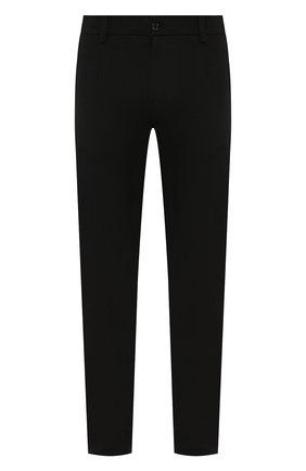 Мужской брюки из смеси шерсти и хлопка DOLCE & GABBANA черного цвета, арт. GYWHLT/FUBE4 | Фото 1