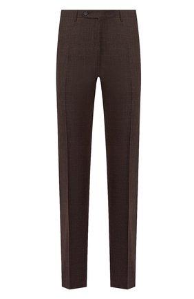 Мужские брюки из шерсти и шелка CANALI коричневого цвета, арт. 71012/AE00386 | Фото 1