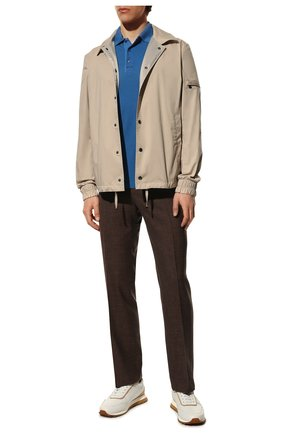 Мужские брюки из шерсти и шелка CANALI коричневого цвета, арт. 71012/AE00386   Фото 2 (Материал внешний: Шерсть; Длина (брюки, джинсы): Стандартные; Случай: Формальный; Материал подклада: Вискоза; Стили: Классический)
