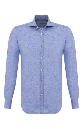 Мужская льняная рубашка CANALI голубого цвета, арт. L7B1/GH01122 | Фото 1