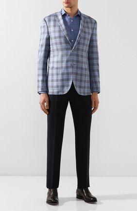 Мужская льняная рубашка CANALI голубого цвета, арт. L7B1/GH01122 | Фото 2