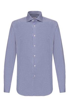 Мужская хлопковая сорочка BRIONI синего цвета, арт. RCL016/P904G | Фото 1