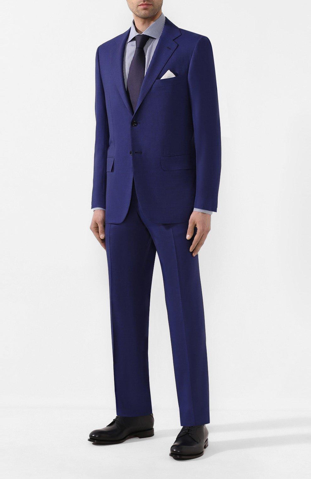 Мужская хлопковая сорочка BRIONI синего цвета, арт. RCL016/P904G   Фото 2