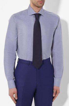 Мужская хлопковая сорочка BRIONI синего цвета, арт. RCL016/P904G   Фото 4