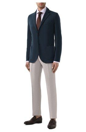 Мужская хлопковая сорочка BRIONI сиреневого цвета, арт. RCL01J/P905B | Фото 2