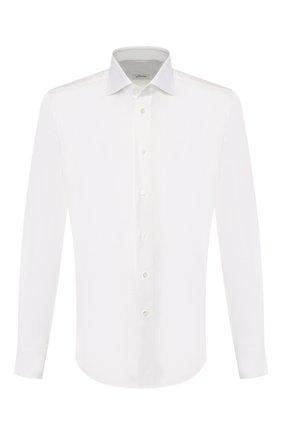 Мужская хлопковая сорочка BRIONI белого цвета, арт. RCL01J/P905B | Фото 1