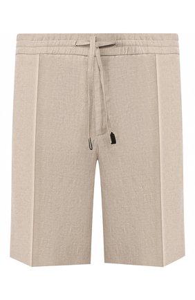 Мужские льняные шорты BRIONI бежевого цвета, арт. RPP10L/P6114/NEW SIDNEY | Фото 1