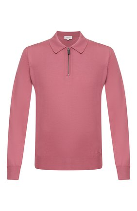 Мужское шерстяное поло BRIONI розового цвета, арт. UMS10L/0ZK18 | Фото 1