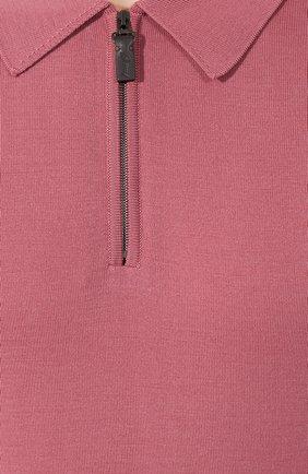 Мужское шерстяное поло BRIONI розового цвета, арт. UMS10L/0ZK18 | Фото 5
