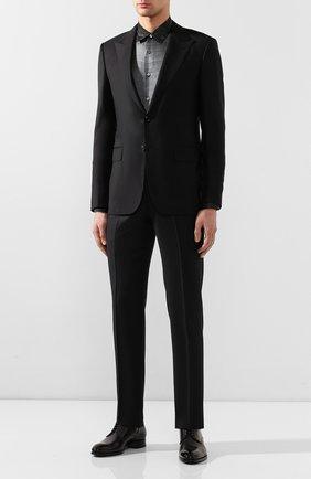 Мужская шелковая рубашка BRIONI темно-серого цвета, арт. SCCS0L/P943U | Фото 2