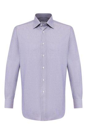 Мужская хлопковая сорочка BRIONI синего цвета, арт. RCLU1Z/P905E | Фото 1