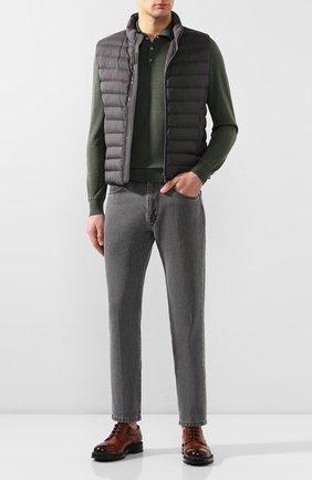 Мужское поло из смеси шерсти и шелка CORNELIANI зеленого цвета, арт. 85M596-0125115/00 | Фото 2