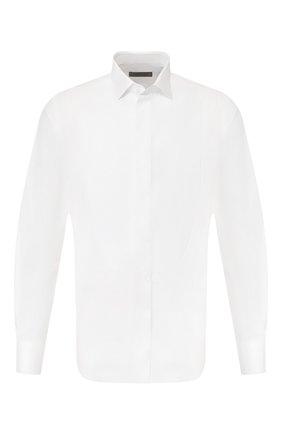 Мужская хлопковая сорочка CORNELIANI белого цвета, арт. 85E198-0111084/00 | Фото 1