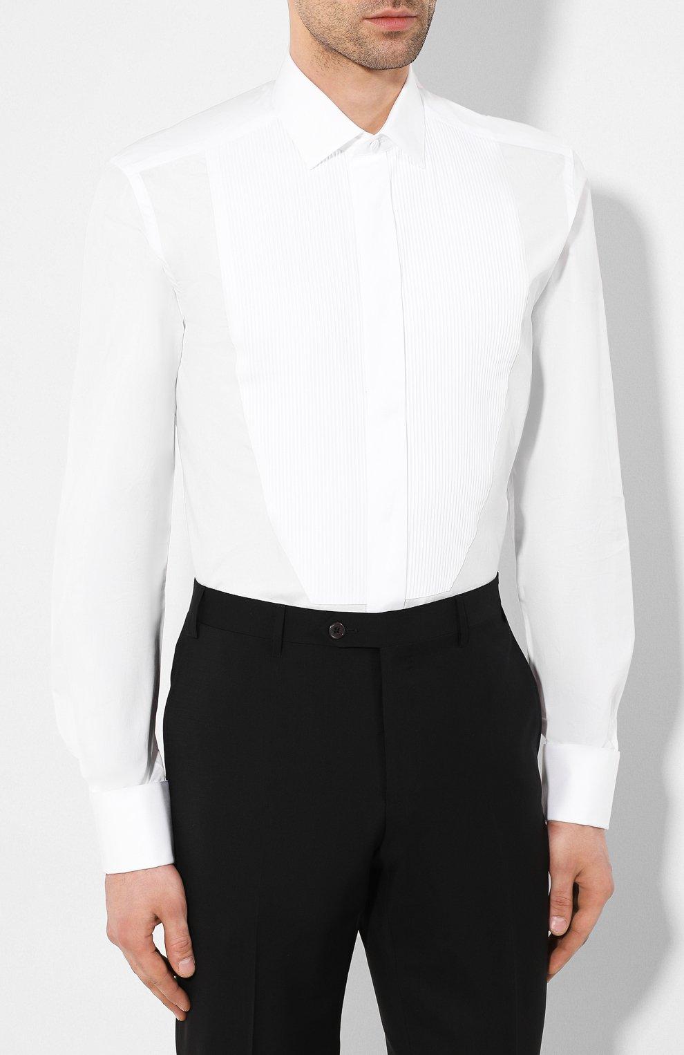 Мужская хлопковая сорочка CORNELIANI белого цвета, арт. 85E198-0111084/00 | Фото 3