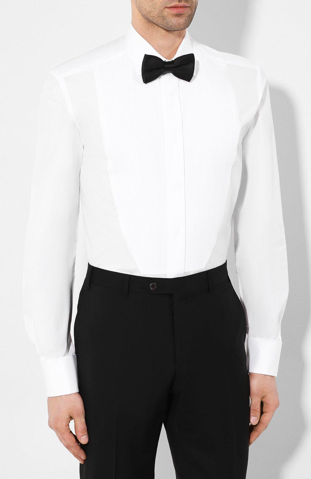Мужская хлопковая сорочка CORNELIANI белого цвета, арт. 85E198-0111084/00 | Фото 4