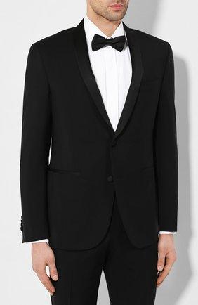 Мужской шерстяной смокинг CORNELIANI черного цвета, арт. 857078-0114135/92 | Фото 2