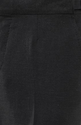Мужские брюки из смеси шерсти и льна ERMENEGILDO ZEGNA зеленого цвета, арт. 718F01/75F812 | Фото 5