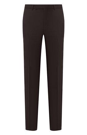 Мужские шерстяные брюки ERMENEGILDO ZEGNA коричневого цвета, арт. 740F06/75TB12 | Фото 1