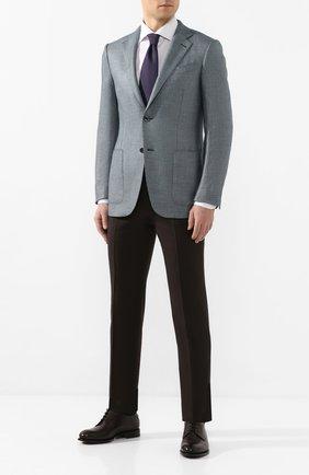 Мужские шерстяные брюки ERMENEGILDO ZEGNA коричневого цвета, арт. 740F06/75TB12 | Фото 2