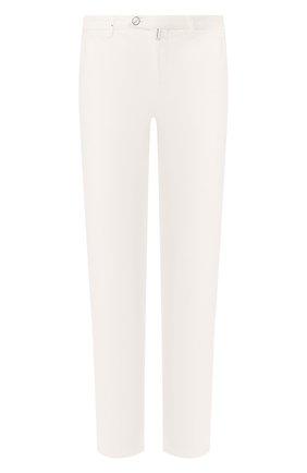 Мужские брюки из смеси хлопка и шелка KITON белого цвета, арт. UFPP79J07S49 | Фото 1