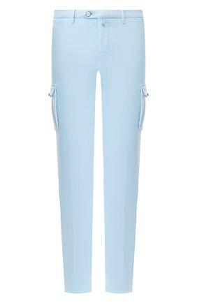 Мужские хлопковые брюки-карго KITON голубого цвета, арт. UFPPCA/J07S48   Фото 1