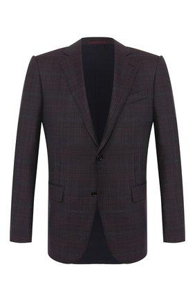Мужской шерстяной пиджак ERMENEGILDO ZEGNA фиолетового цвета, арт. 752520/121220 | Фото 1