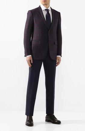 Мужской шерстяной пиджак ERMENEGILDO ZEGNA фиолетового цвета, арт. 752520/121220 | Фото 2