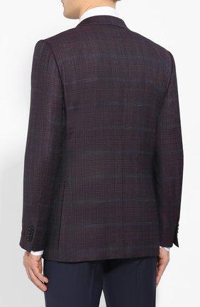 Мужской шерстяной пиджак ERMENEGILDO ZEGNA фиолетового цвета, арт. 752520/121220 | Фото 4