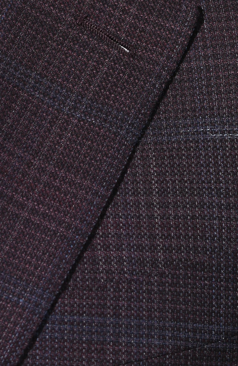 Мужской шерстяной пиджак ERMENEGILDO ZEGNA фиолетового цвета, арт. 752520/121220 | Фото 5