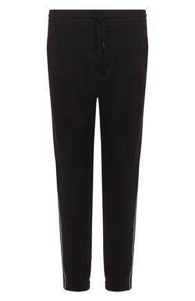Мужские хлопковые джоггеры ZEGNA COUTURE черного цвета, арт. CUCJ02/7UJ42 | Фото 1 (Материал внешний: Хлопок; Длина (брюки, джинсы): Стандартные; Силуэт М (брюки): Джоггеры; Мужское Кросс-КТ: Брюки-трикотаж)