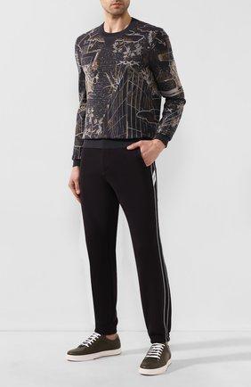 Мужские хлопковые джоггеры ZEGNA COUTURE черного цвета, арт. CUCJ02/7UJ42 | Фото 2 (Материал внешний: Хлопок; Длина (брюки, джинсы): Стандартные; Силуэт М (брюки): Джоггеры; Мужское Кросс-КТ: Брюки-трикотаж)